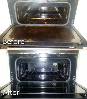 Oven Cleaning - Before and After
